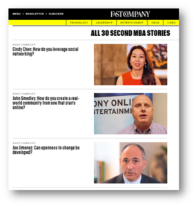 Fast Company - 30 Second MBA