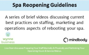 Mindbody Spa Reopening Guidelines Videos